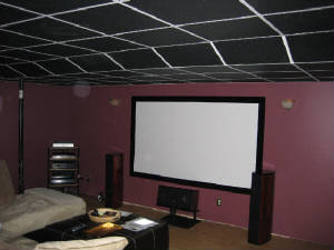 Black Ceiling Tiles - 2x2 act ceiling